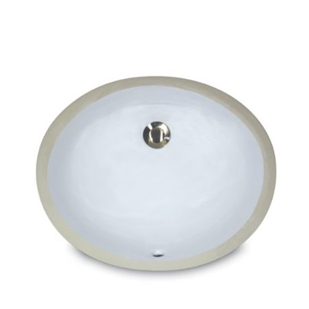 Ceramic Undermount Vanity Sink (nantucket sinks um-13x10-w 13-inch by 10-inch oval ceramic undermount vanity sink,)