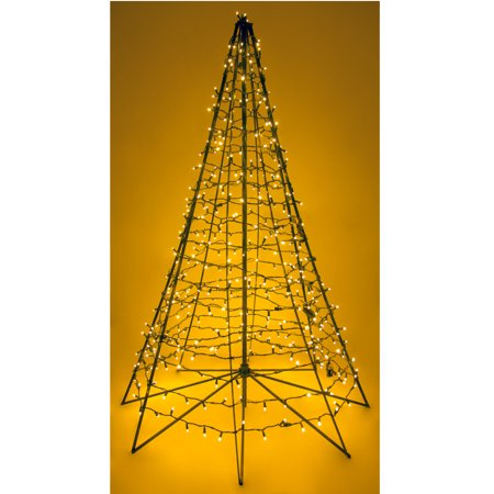 6 x 48 metal frame outdoor metal christmas tree w450 white lights - Metal Christmas Decorations Outdoor