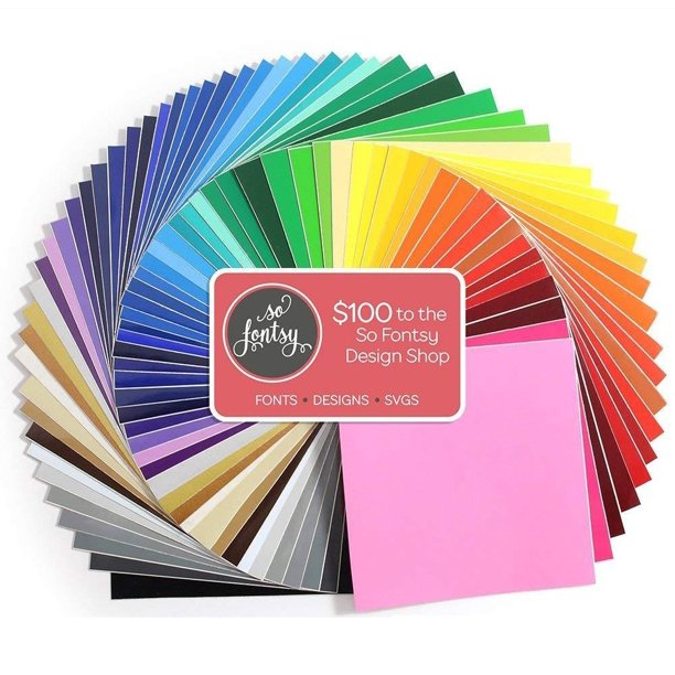 Oracal 631 Matte Vinyl Bundle 12 X 12 68 Assorted Colors 100 Design Card Walmart Com Walmart Com
