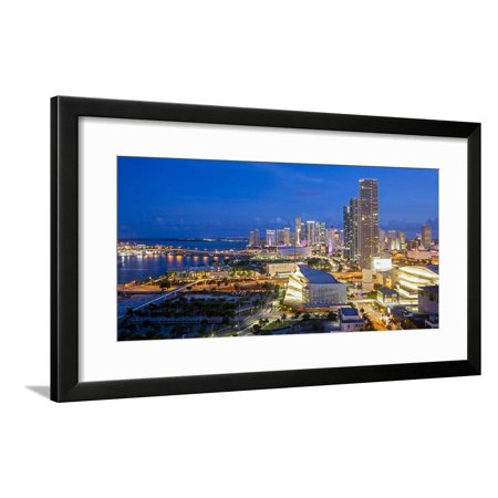 Elevated View over Biscayne Boulevard and the Skyline of Miami, Florida, United States of America Framed Print Wall Art By Gavin Hellier](Biscayne Boulevard)