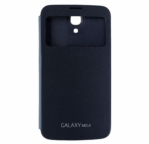 Samsung S-View Flip Cover Case for Samsung Galaxy Mega - Black