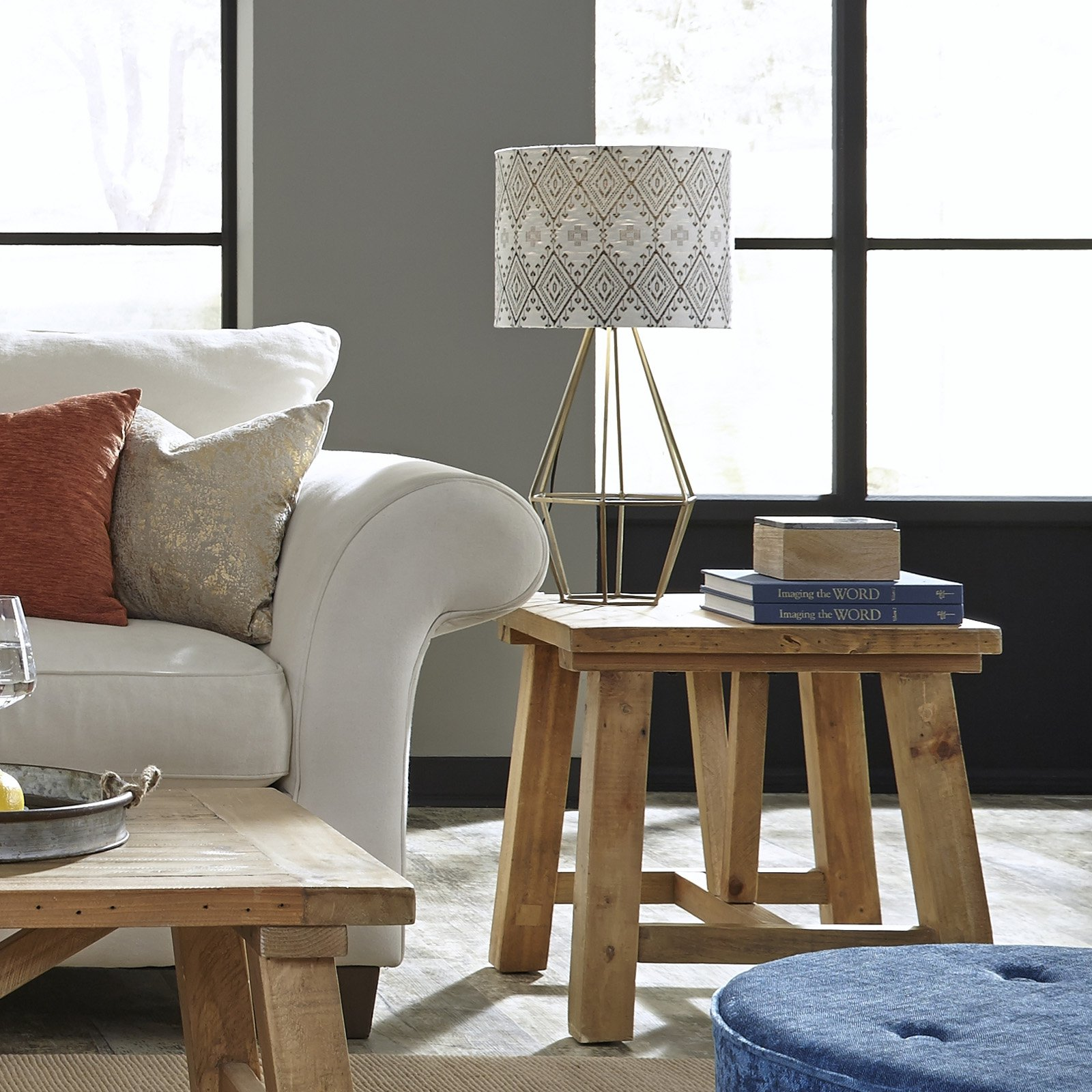 Modus Harby Reclaimed Wood Square Side Table by