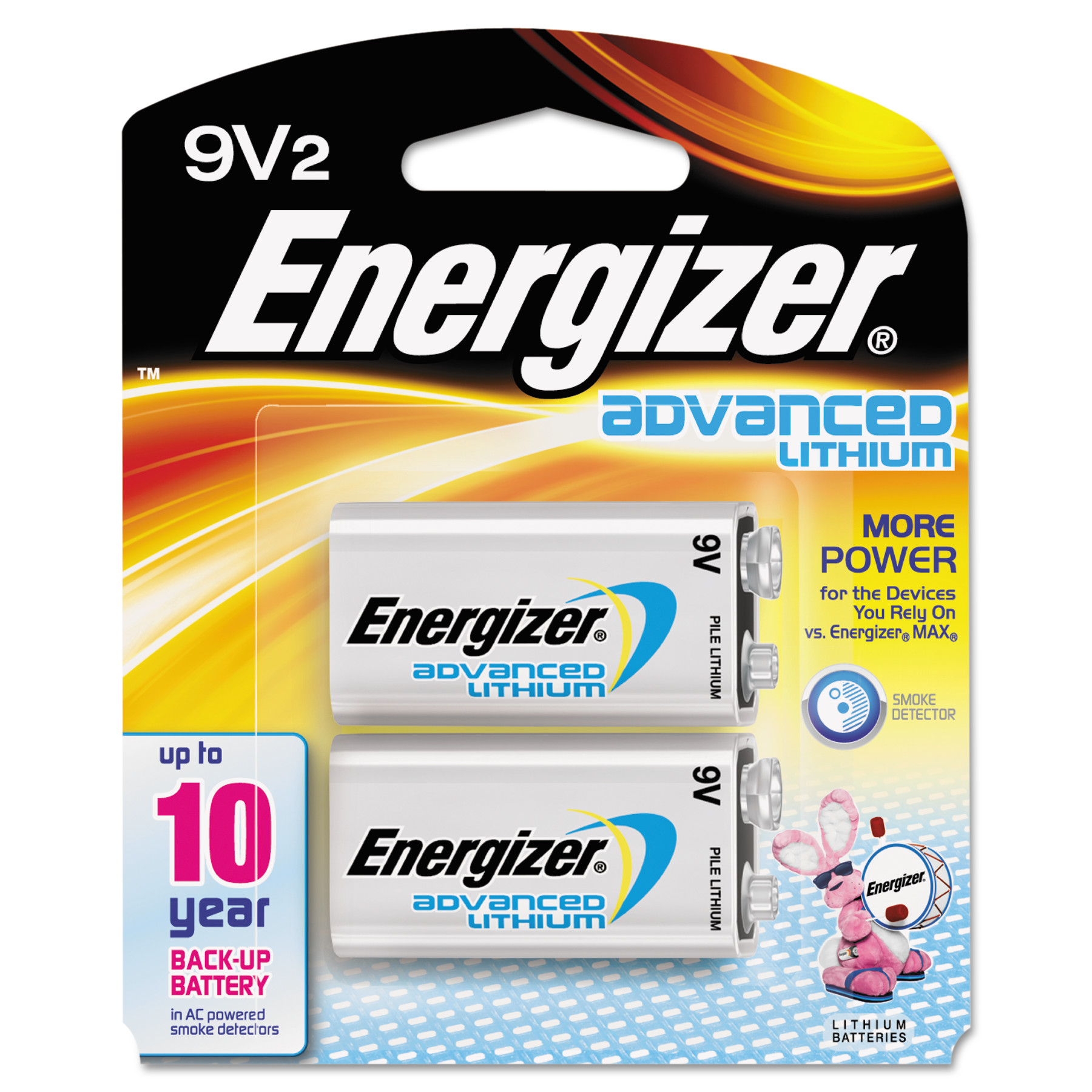 Energizer Advanced Lithium Batteries, 9V, 2/Pack   Walmart.com
