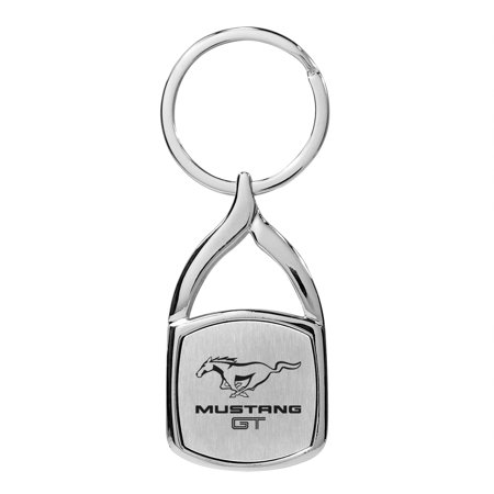 Ford Mustang GT Chrome Flame Tip Key Chain (Chrome Flame Drop)