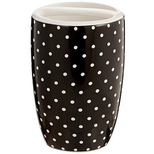Mainstays Black and White Toothbrush Holder
