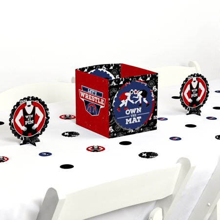 Own The Mat - Wrestling - Birthday Party or Wrestler Party Centerpiece & Table Decoration Kit