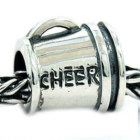 Buckets of Beads Cheerleading Megaphone Charm Beads Fits Most Major Charm Bracelets For Women Girls (Charms For Charm Bracelet)