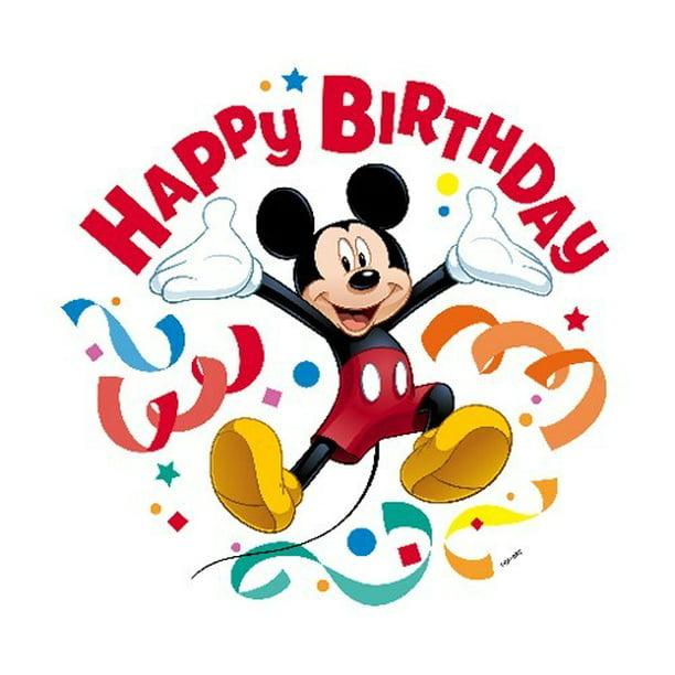 Mickey Mouse Happy Birthday Edible Cupcake Toppers - Set of 12 -  Walmart.com - Walmart.com