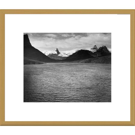 Global Gallery  Ansel Adams 'St. Mary's Lake, Glacier National Park, Montana' Framed (Ansel Adams Gallery Yosemite National Park)
