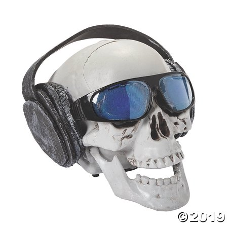 Talking Skull with Headphones Halloween Decoration