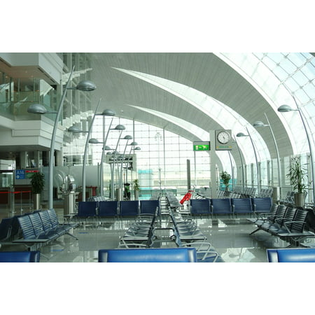Canvas Print Dubai Waiting International Empty Terminal Airport Stretched Canvas 10 x 14