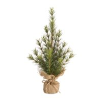 18 Inch Artificial Christmas Pine Tree with Burlap Sack Base Decoration New