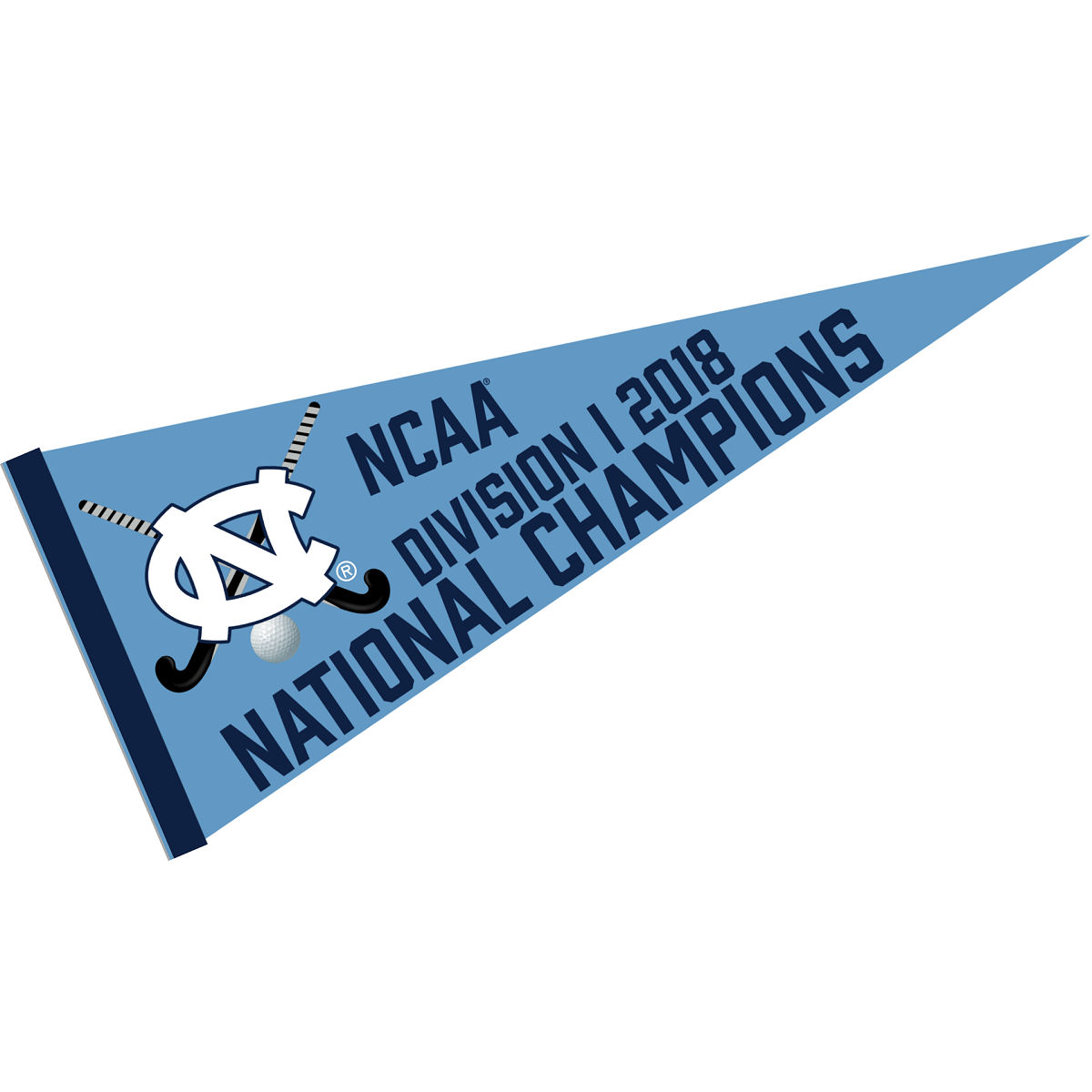 "University of North Carolina Tar Heels 2018 Womens Field Hockey Champions 12"" X 30"" Felt College Pennant"
