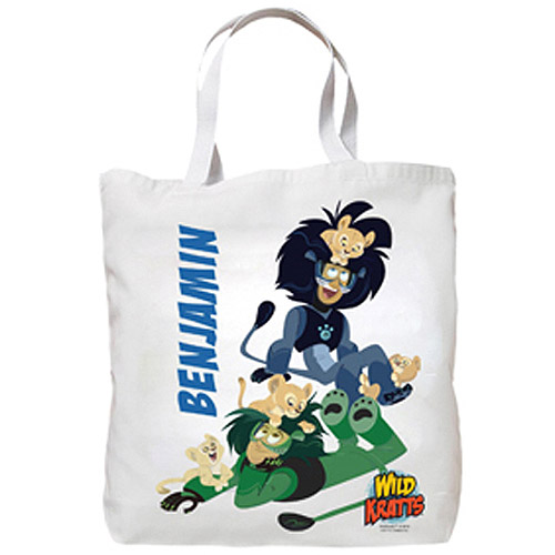 Personalized Wild Kratts Lion Cubs Tote Bag