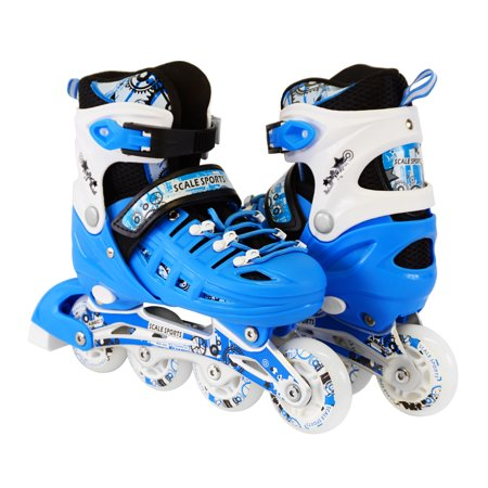 - Size 4-6 Adjustable Kids Light Up Inline Skates
