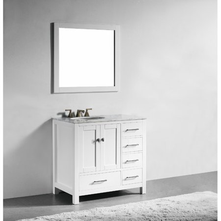 Willa Arlo Interiors Sverre 36 39 39 Single Bathroom Vanity With Mirror