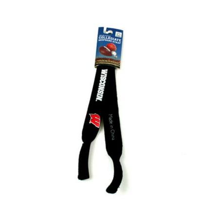 Wisconsin Badgers NCAA Black Neoprene Strap For Sunglasses/Eye (Neoprene Sunglasses Strap)
