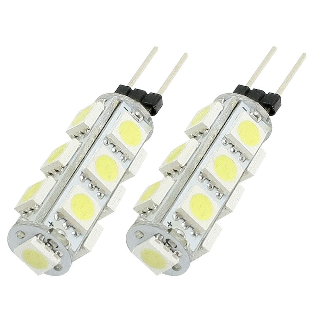 2 Pcs Auto Car G4 White 5050 13 SMD LED Light Dashboard Lamp Bulb