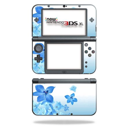 MightySkins Protective Vinyl Skin Decal for New Nintendo 3DS XL (2015)  cover wrap sticker skins Blue Flowers