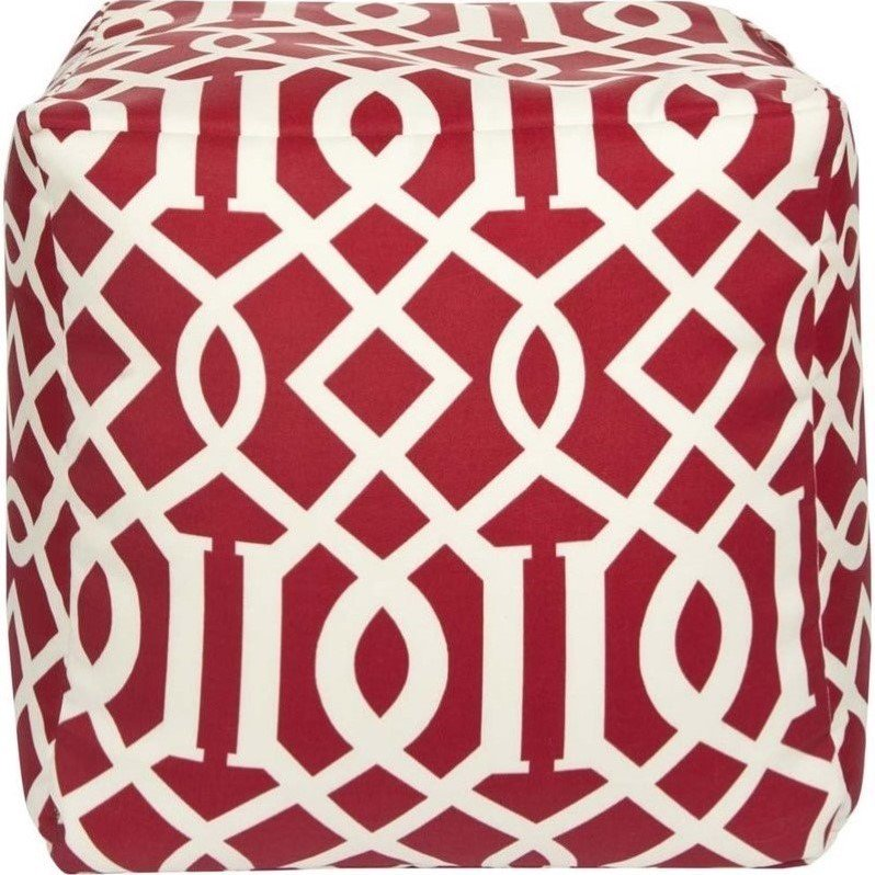 Surya  POUF-111  Pillows  Surya Poufs  Home Decor  Poufs  ;Cherry