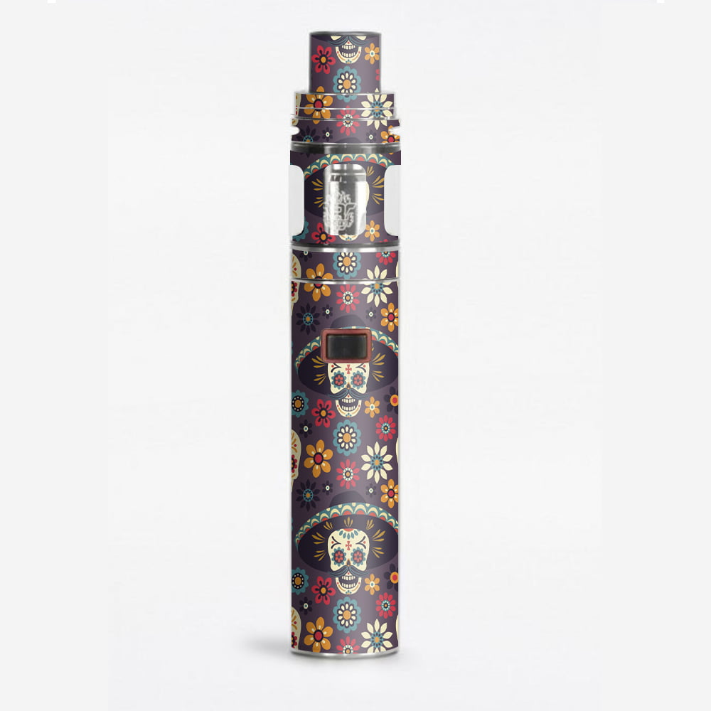 Skin decal for smok stick x8 vape sugar skulls sombrero day of the dead