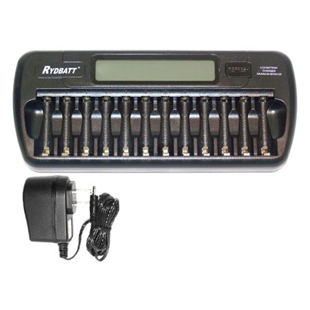 12 Bay AA / AAA LCD Smart Battery Charger - image 1 de 1