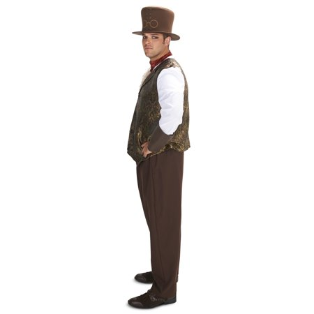 Male Steampunk Costumes (Steampunk Man with Neck Piece Adult Plus Costume)