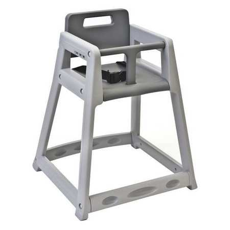 Plastic High Chair, Gray ,Csl Foodservice And Hospitality, 850DGY-KD