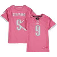 Matthew Stafford Detroit Lions Girls Youth Bubble Gum Jersey - Pink