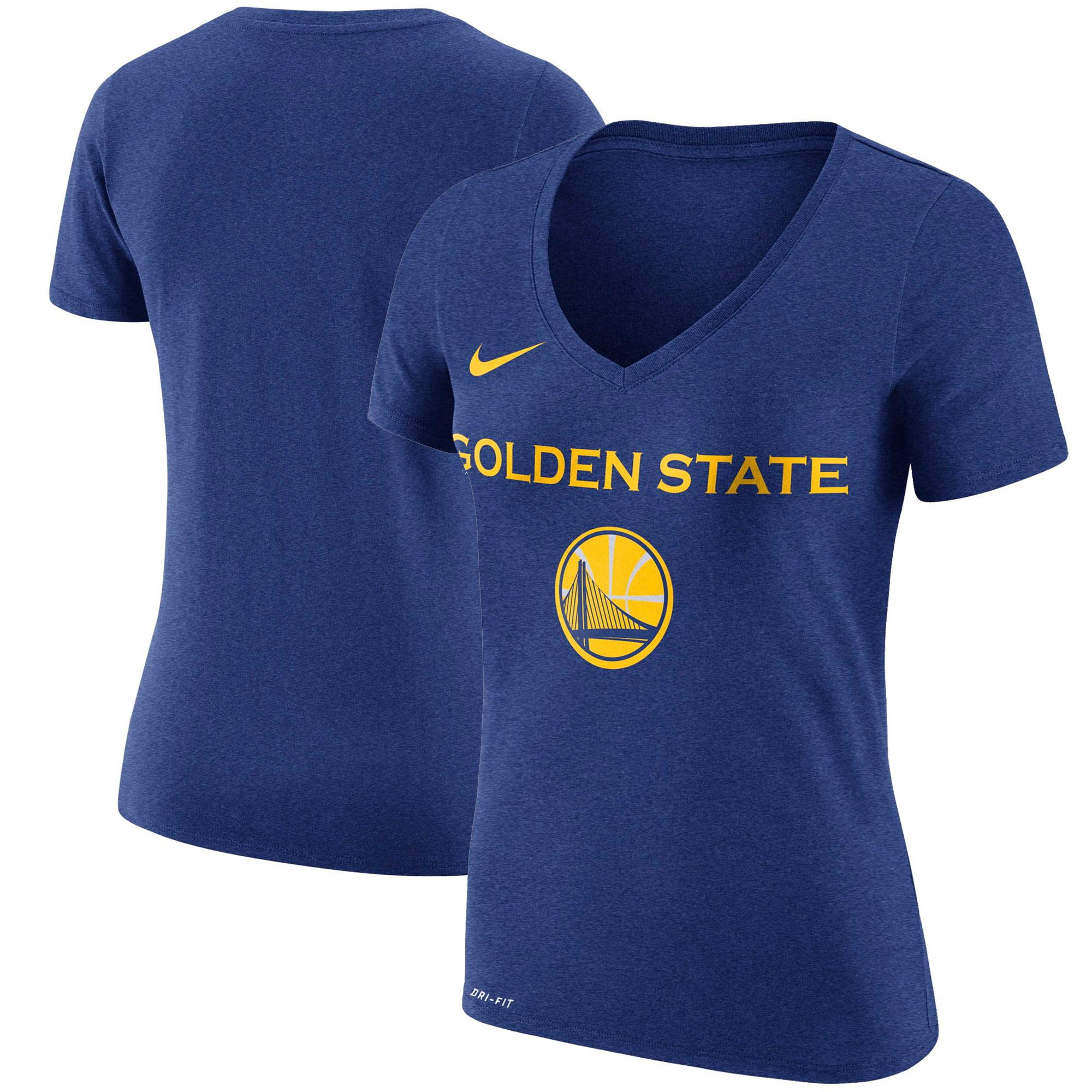 Golden State Warriors Nike Women's Wordmark V-Neck T-Shirt - Royal