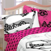 Store51 Llc 18082851 Justice League Girl Bed Sheet Set Awesome Power Wonder Woman Bedding Accessories