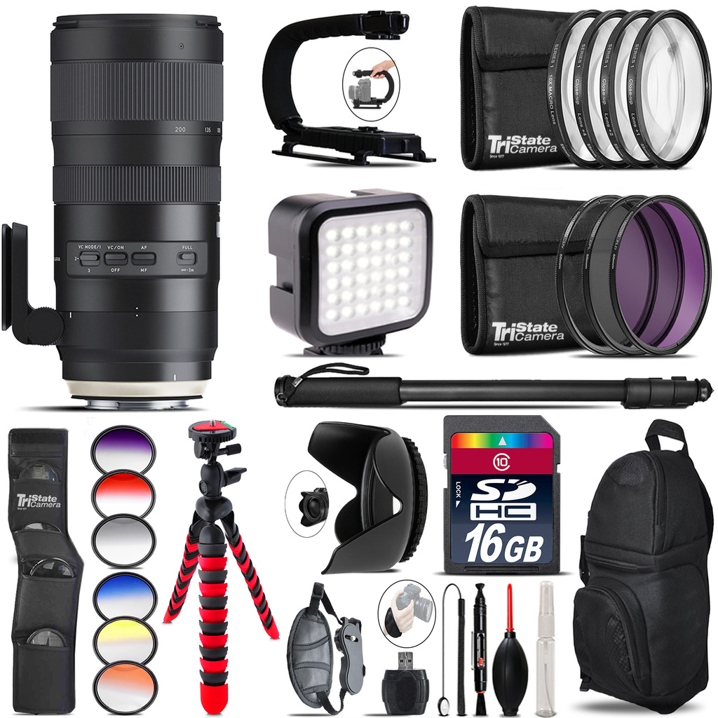 Tamron 70-200mm G2 for Canon Video Kit + Color Filter 16GB Accessory Kit by Tamron