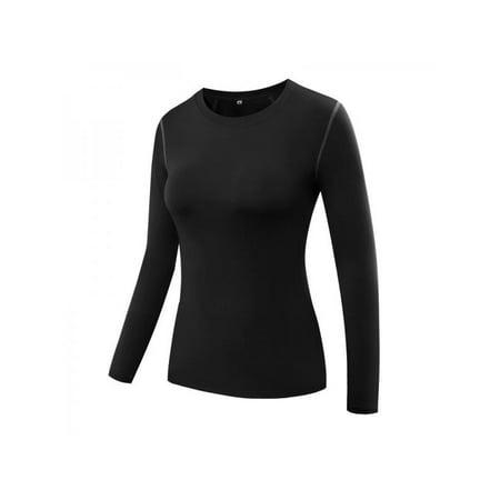 c1858bfa179 Ropalia Women Compression Tops Long Sleeve Yoga Tight Tops Lady Fitness Gym  Workout Shirt Tee Tops T-Shirts - Walmart.com
