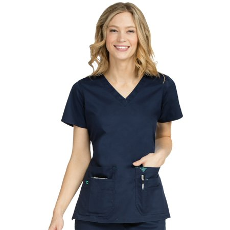 8bc025d2e83 Med Couture - Med Couture Women's Flex It Top, New Navy/Spearmint, XL -  Walmart.com