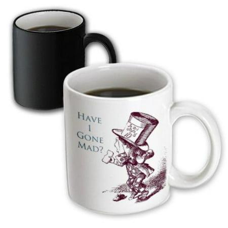 3dRose Mad Hatter Have I gone Mad Alice in Wonderland, Magic Transforming Mug, 11oz](Mad Hatter And Alice In Wonderland)