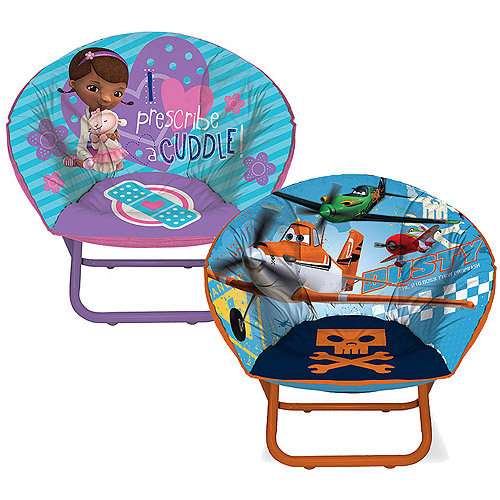 Toddler Mini-Saucer Chair (Your Choice in Character) with Room Accessory