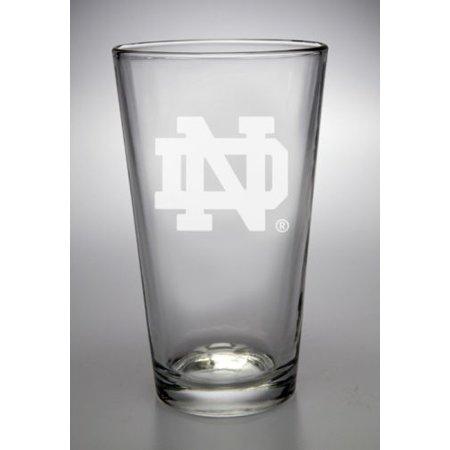 Nd Fighting Irish (Notre Dame Fighting Irish Interlocking ND Deep Etched Pub Pint)