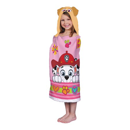 PAW Patrol Kids Hooded Towel Wrap, 24in x 50in, 100% Cotton, 1 Each
