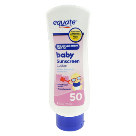 Equate Baby Sunscreen Lotion, SPF 50, 8 Fl Oz