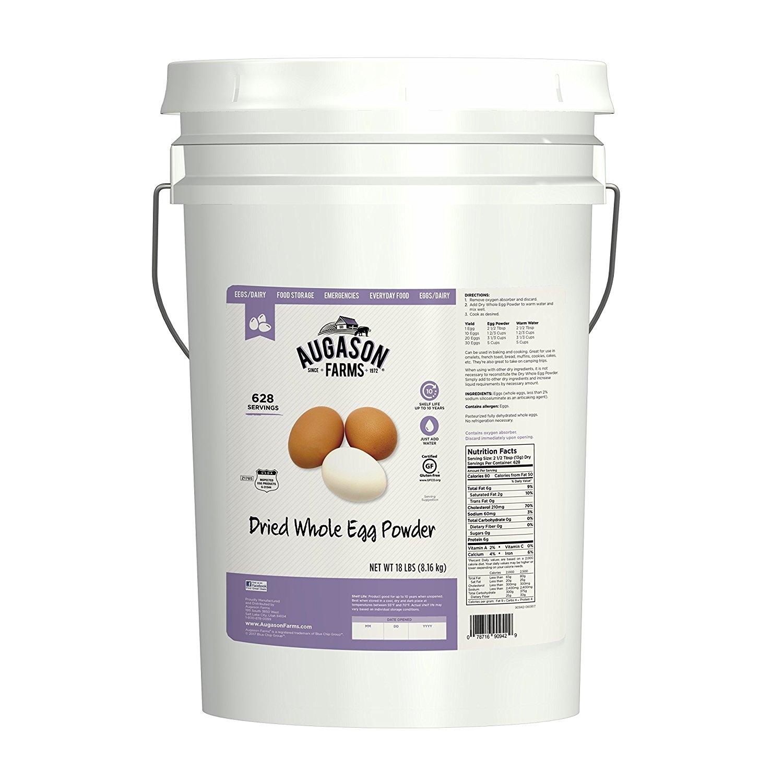 Augason Farms Dried Whole Egg Product 18 lb 6G Pail by Augason Farms