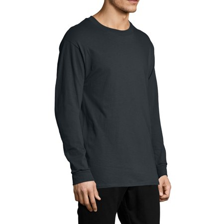 Hanes Men's and Big Men's ComfortSoft Long Sleeve Tee, Up to Size 3XL