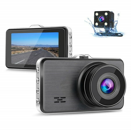 Tagital Dual Dash Cam Front and Rear, 1080P Full HD Car DVR Dashboard Camera Recorder with Night