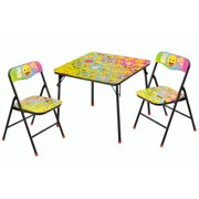 Emoji 3-Piece Table and Chair Set