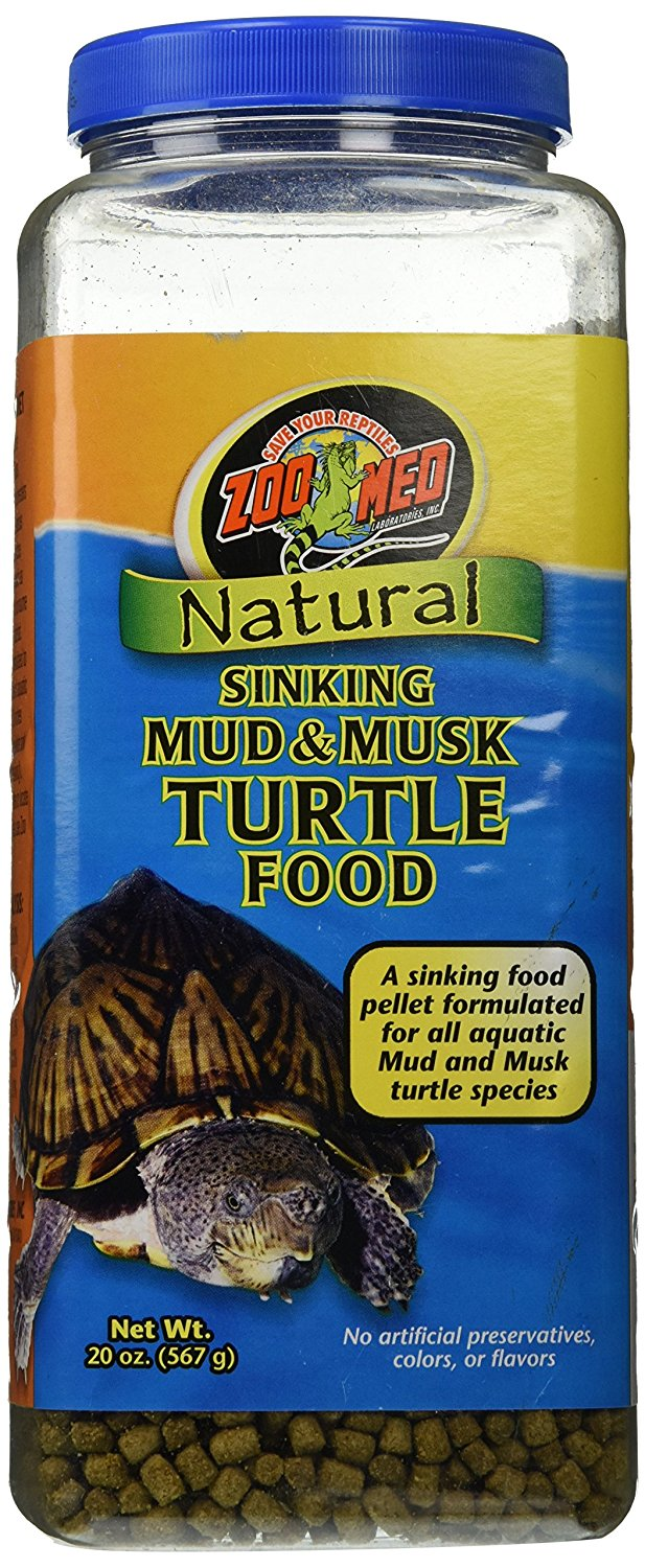 Natural Sinking Mud And Musk Turtle FoodMud & Musk Sinking Aquatic Turtle Food 20 Oz By Zoo Med by