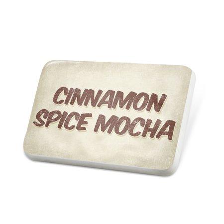 Porcelein Pin Cinnamon Spice Mocha Coffee, Vintage style Lapel Badge – NEONBLOND