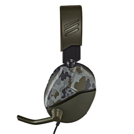 RECON 70 Gaming Headset, Green Camo, Turtle Beach, PlayStation 4, Xbox One, Nintendo Switch, Mobile Devices, 731855064557