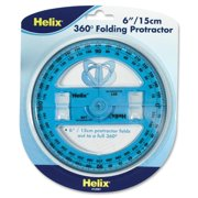 6 inch 360 Degree Folding Protractor (12081) By Helix