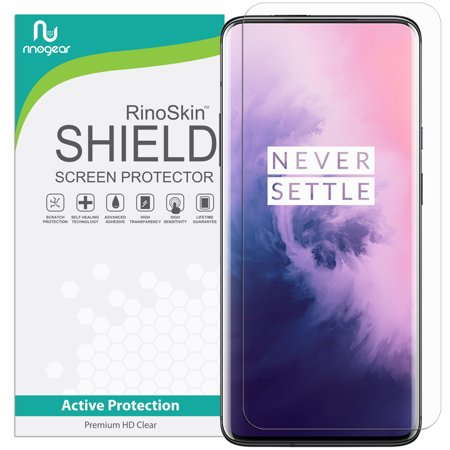 Id Screen - RinoGear for OnePlus 7 Pro Screen Protector (Fingerprint ID Compatible) Case Friendly Screen Protector for OnePlus 7 Pro Accessory Full Coverage Clear Film