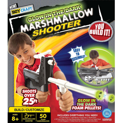 Boy Craft Glow in the Dark Marshmallow Shooter by Horizon Group USA