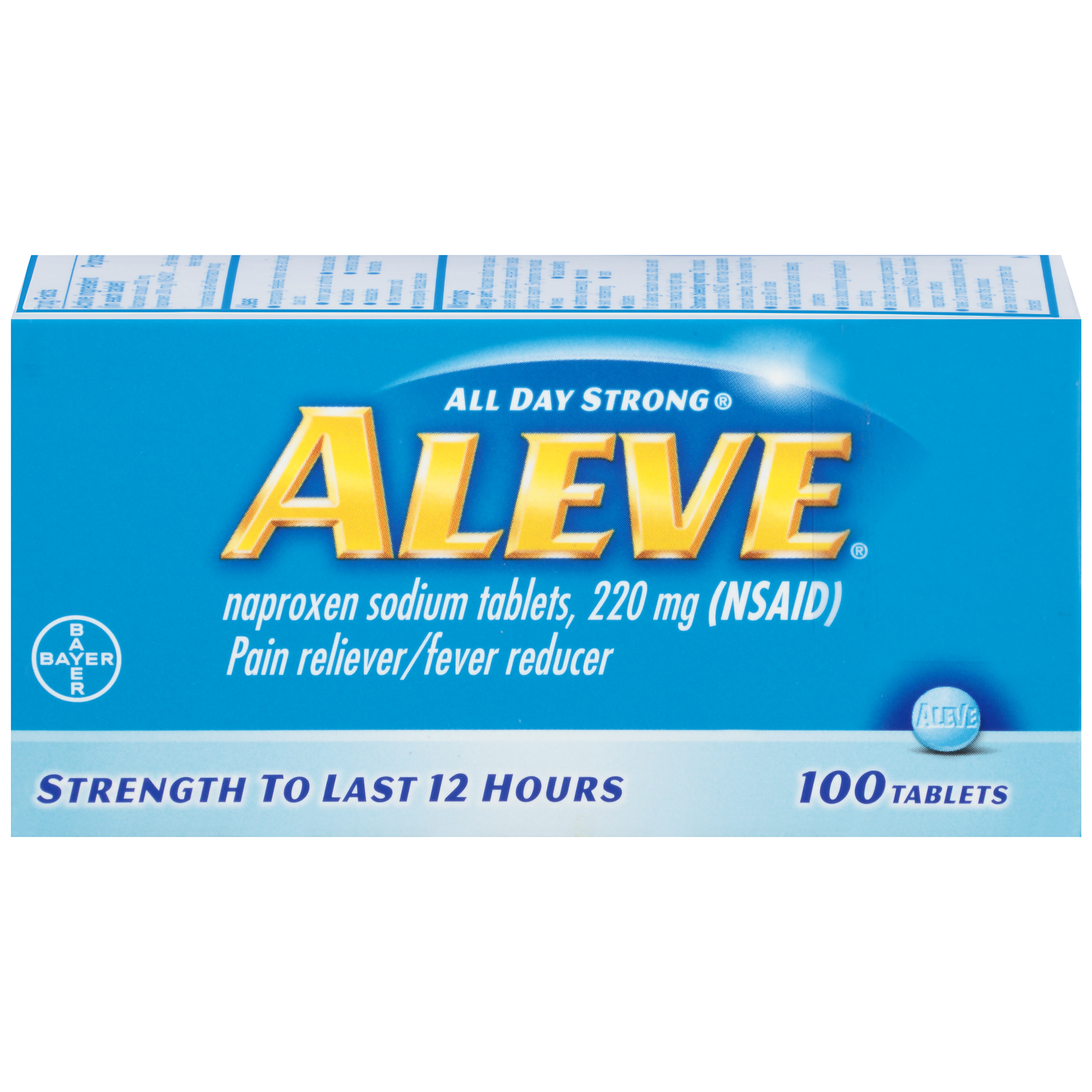 Aleve Pain Reliever/Fever Reducer Naproxen Sodium Tablets, 220 mg, 24 Ct